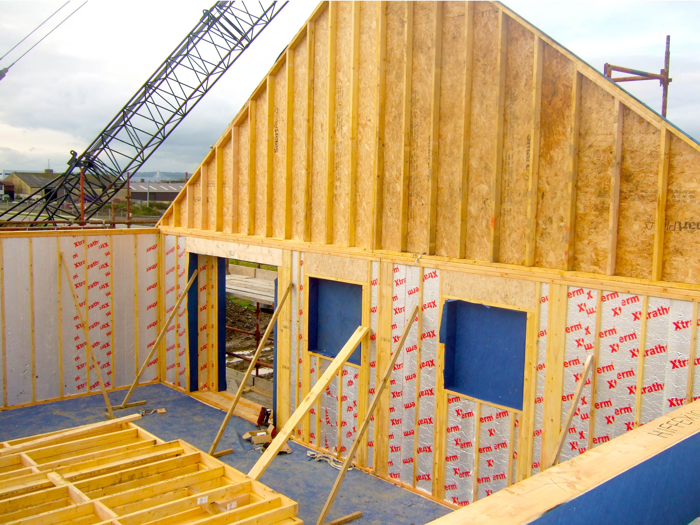 Manley timber frame manley construction duleek co for How to build a timber frame house